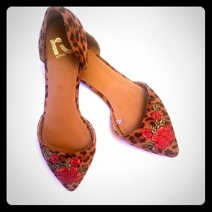 Report Sycamore Animal Print Rose Pointy Flat S:9